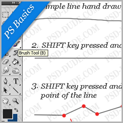 Draw a Line in Photoshop psd-dude.com Tutorials