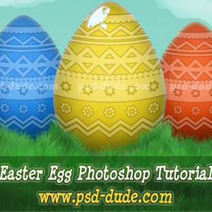 Draw an <span class='searchHighlight'>Easter</span> Egg in Photoshop psd-dude.com Tutorials