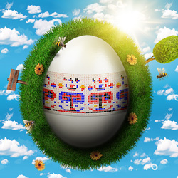 Create a Cute Easter Grass Planet in Photoshop psd-dude.com Tutorials