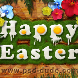Design an Easter Poster in Photoshop psd-dude.com Tutorials