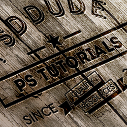 Create an Engraved <span class='searchHighlight'>Wood</span> Logo in Photoshop psd-dude.com Tutorials