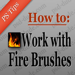 Photoshop Fire Brush Tutorial psd-dude.com Tutorials