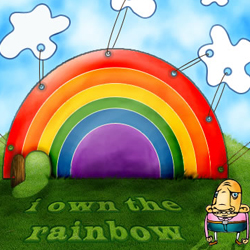 Funny Cartoon Rainbow psd-dude.com Tutorials