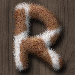 Create a Fur Text Style in Photoshop psd-dude.com Tutorials