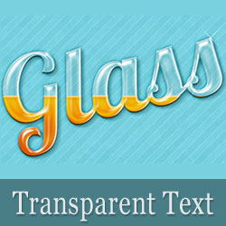 Create a Transparent Text in Photoshop