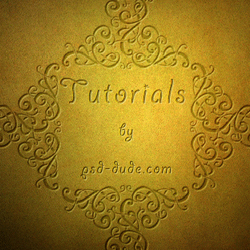 Beautiful Gold Engraved Decorations psd-dude.com Tutorials
