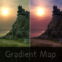Photoshop Gradient Map Tutorial for Beginners psd-dude.com Tutorials