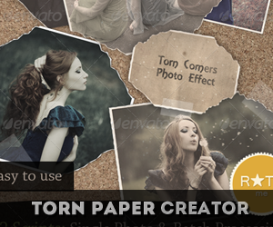 Torn Photo Effect Photoshop Action