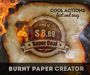 Burnt Paper with Fire Effects Photoshop
