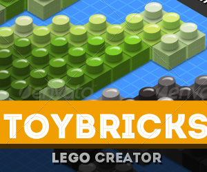 3D Isometric Toy Bricks Photoshop Action