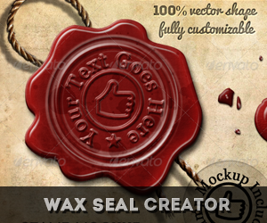 Wax Stamp Seal Photoshop Creator