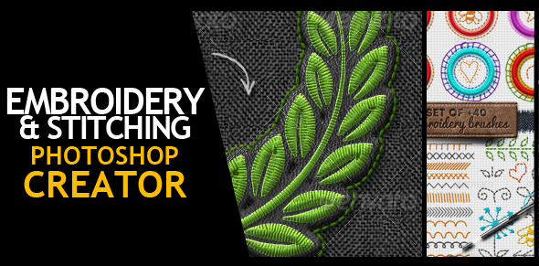 Embroidery and Stitching Photoshop Creation Kit - 13