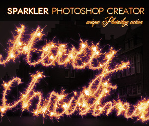 Sparklers Light Trails Photoshop Actions
