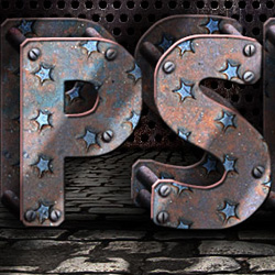 Make a Grunge Rusty Metal Text in Adobe Photoshop psd-dude.com Tutorials