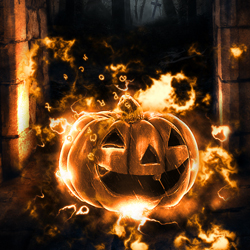 Enchanted Halloween Pumpkin Photoshop Tutorial