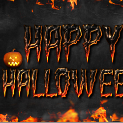 Halloween Fire Text Style Photoshop Tutorial