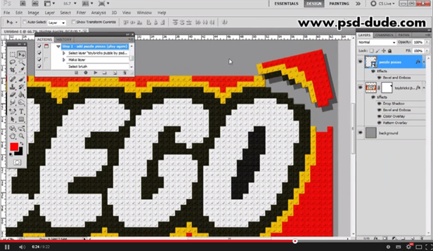 Lego Toy Bricks Puzzle Photoshop Actions