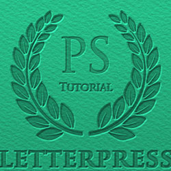 Letterpress Text Effect Photoshop Tutorial psd-dude.com Tutorials