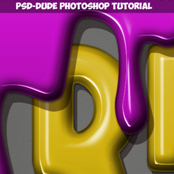 Paint Drip Text Effect in Photoshop psd-dude.com Tutorials