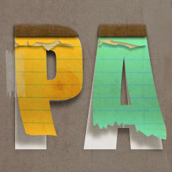 Create a <span class='searchHighlight'>Paper</span> Text in Photoshop psd-dude.com Tutorials