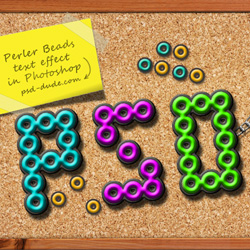 How to Create a Hama Perler Beads Text in Photoshop