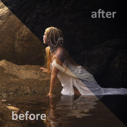 Photoshop Dark Photo Effect psd-dude.com Tutorials
