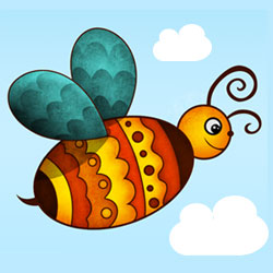 Create a Cute Photoshop Easter Egg Bee psd-dude.com Tutorials