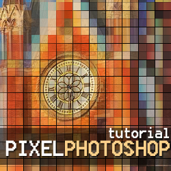 Pixel Photo Effect in Photoshop with Mosaic Filter psd-dude.com Tutorials