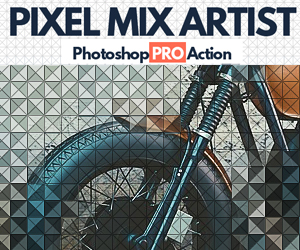 Pixel Mix Artist Photoshop Action
