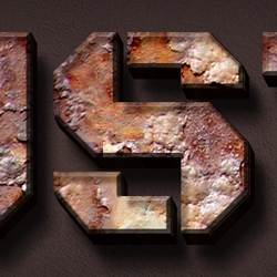 Rusty Metal Text  Style Photoshop Tutorial psd-dude.com Tutorials