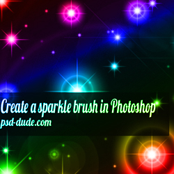 Create Sparkle Brushes in Photoshop psd-dude.com Tutorials