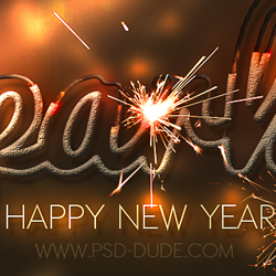 Sparkler Light Text Effect Photoshop Tutorial psd-dude.com Tutorials