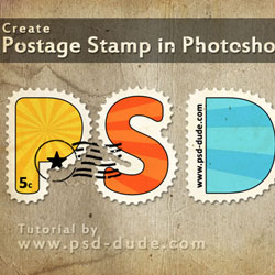 Create a Postage Stamp Text in Photoshop