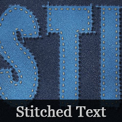 Photoshop Stitch Text