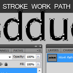 Stroke Path in Photoshop psd-dude.com Tutorials