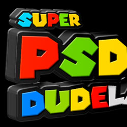 3D Super Mario Plastic Text in Photoshop psd-dude.com Tutorials