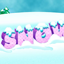 3D Text with snow
