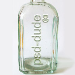 Transparent Text on Glass Bottle in Photoshop