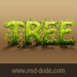 Photoshop Tree Text Effect