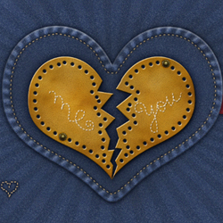 Valentine Photoshop Wallpaper with Jeans Heart