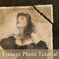 Create a Vintage Photo Effect in Photoshop psd-dude.com Tutorials