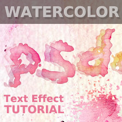 Watercolor Stain Text in Photoshop psd-dude.com Tutorials