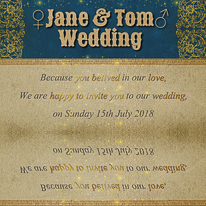 Design a Wedding Invitation with Photoshop and Textturizer psd-dude.com Tutorials