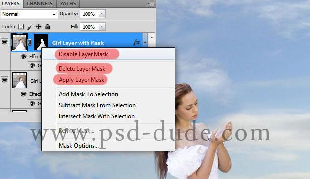 Как включить слой маску в фотошопе