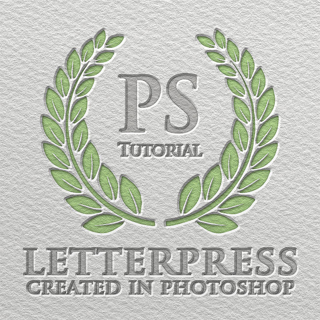 Letterpress Text Effect Photoshop Tutorial