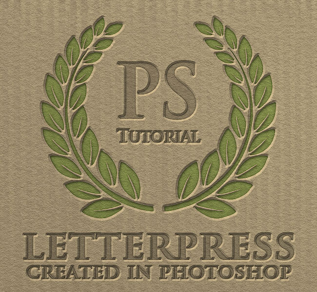 letterpress text in photoshop