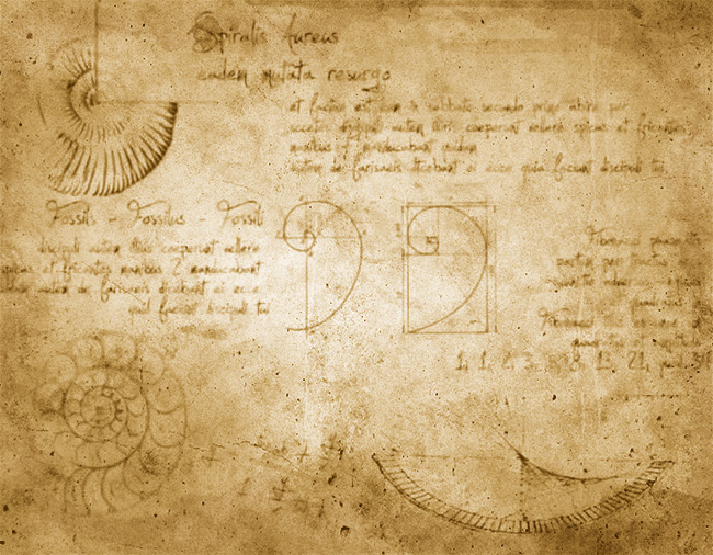 lost-page-leonardo-da-vinci-codex-the-golden-spiral photoshop