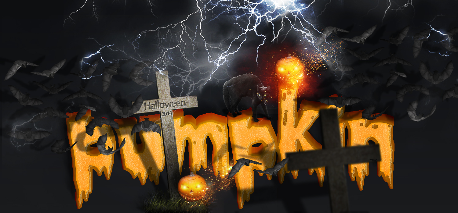 20 terrifying halloween text effects photoshop tutorials psddude make a spooky halloween pumpkin text effect in photoshop baditri Gallery