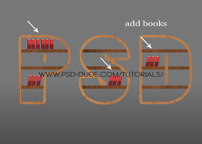 Make a Wood Book Shelf Text in Photoshop - Photoshop tutorial ...