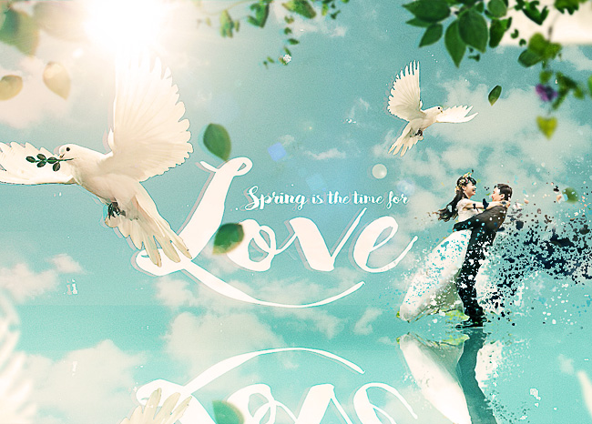 spring love wedding effect photoshop tutorial
